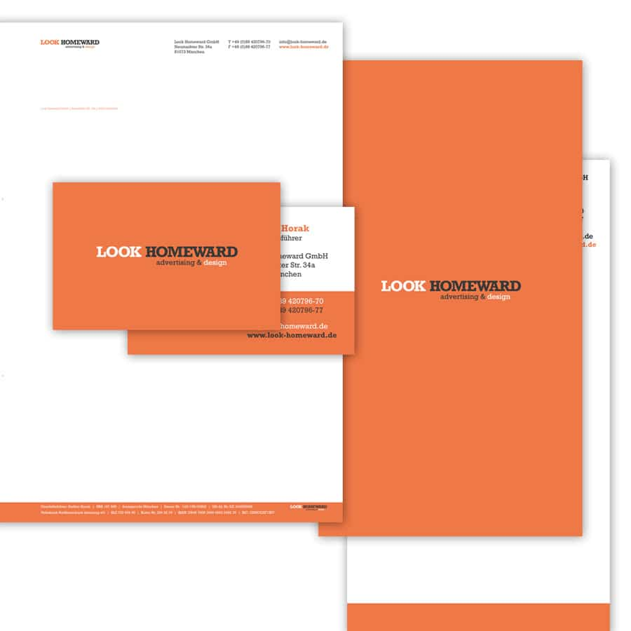 Logo, Corporate Design und Webdesign Look Homeward GmbH