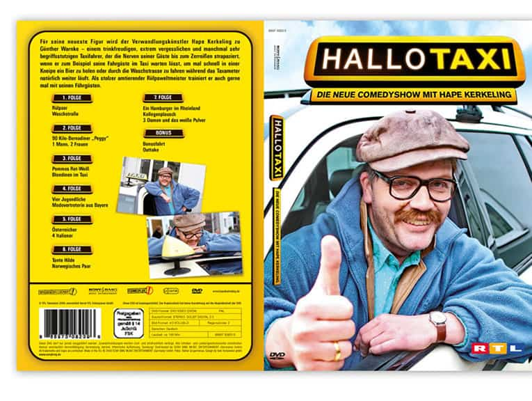 Konzept, Design DVD Cover Hallo Taxi