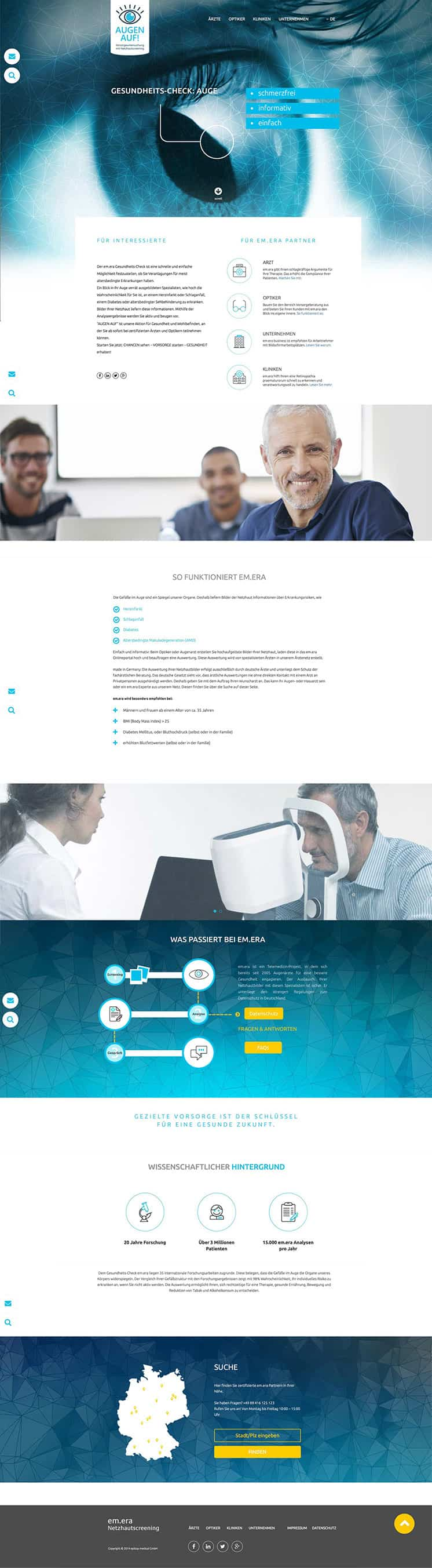 Webdesign und Coding - One Pager epitop medical GmbH