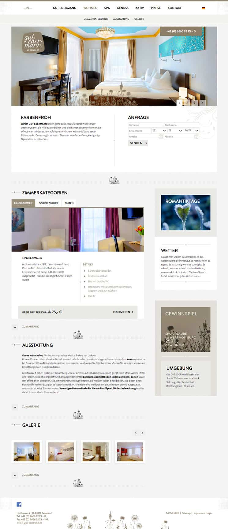 Gut Edermann Webdesign
