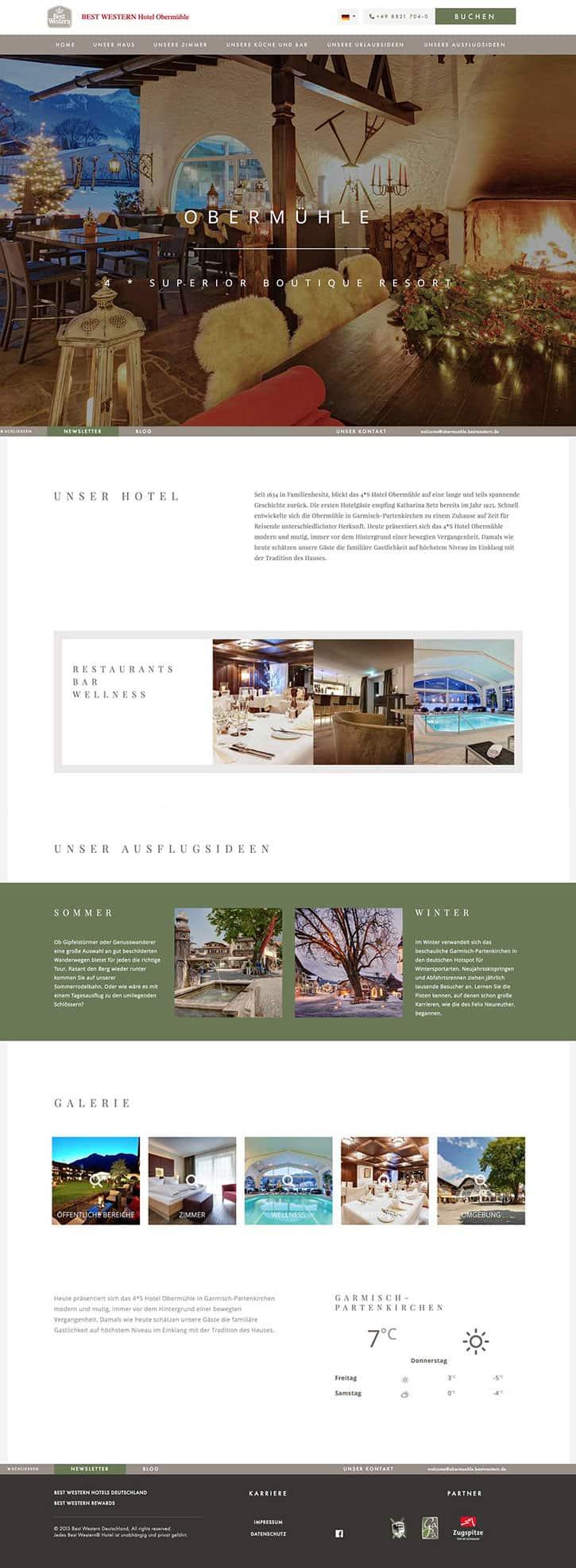 Gravik De Webdesign Und Entwicklung Hotel Obermuhle In Garmisch
